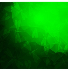Bright green frame vector image