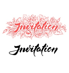 Invitation lettering vector