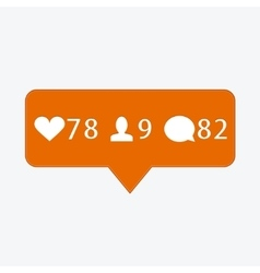 Modern like follower comment icons vector