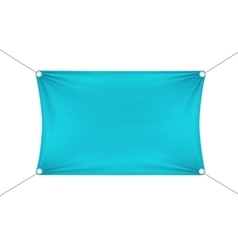 Turquoise blank empty horizontal banner vector