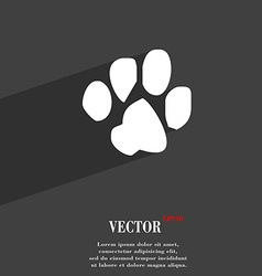 Trace dogs icon symbol flat modern web design with vector