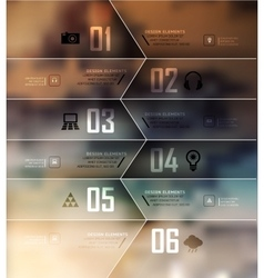 Blur business step vector