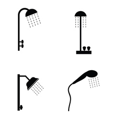 Shower head in black vector
