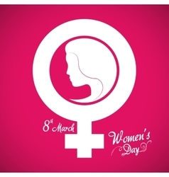 Happy womens day design vector