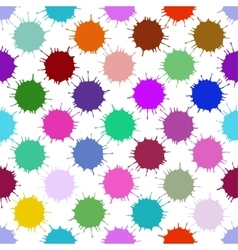 Color ink blots seamless background vector