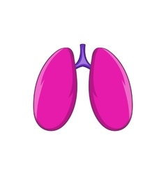 Lungs icon cartoon style vector