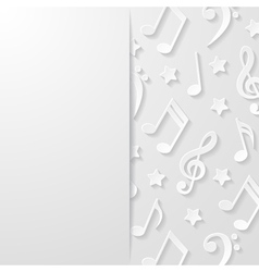 Abstract background with musical notes vector image vector image