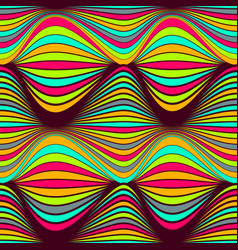 Abstract seamless pattern bright colored wavy vector