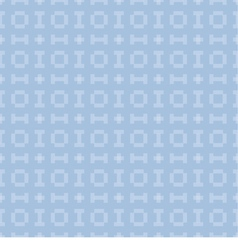 Blue background with seamless pattern vector