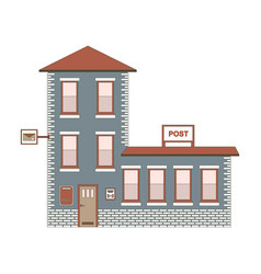building exterior of post office vector image vector image
