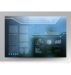 Business template page with blue abstract vector