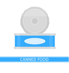 Canned food isolated vector