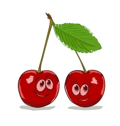 cartoon cherry vector image vector image