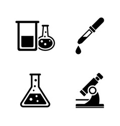chemical simple related icons vector image