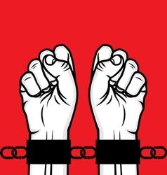 Fist in chain1 vector