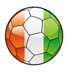 flag of ivory coast on soccer ball vector image