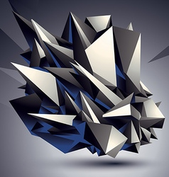 Geometric abstract 3d complicated object single vector