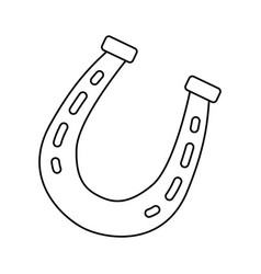 horse shoe isolated vector image