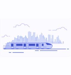 line suburban train vector image vector image