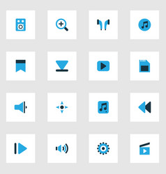 Media colorful icons set collection of file vector