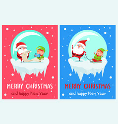 merry christmas list of gifts vector image