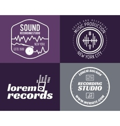music production studio logos set Musical vector image