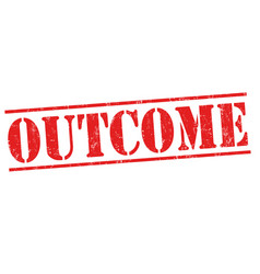 outcome sign or stamp vector image vector image