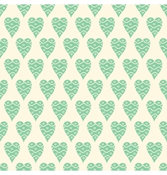 Pattern with blue hearts vector