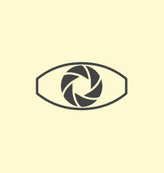 photography logo design eye vector image