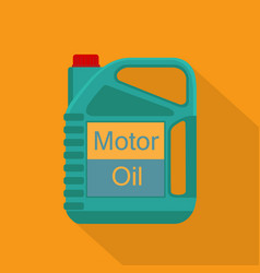 picture of motor oil tank flat style icon vector image vector image