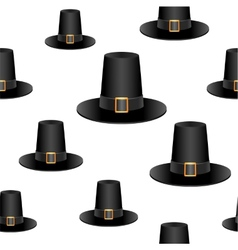 Pilgrim hat background vector