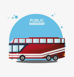 public transport vehicle travel vector image