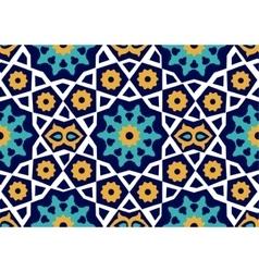 Seamless uzbek pattern ceramic tile imitating vector
