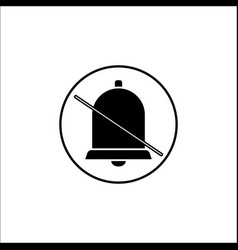 Soundless and mute solid icon mobile sign vector