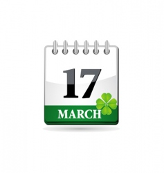 st patrick calendar vector image vector image