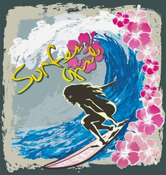 surfer girl spirit vector image
