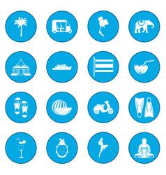 Thailand icon blue vector