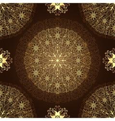 Vintage brown seamless pattern vector