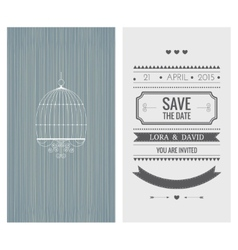 Wedding invitation card Save the date vector image
