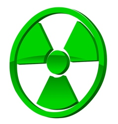 Radioactive 3d icon vector
