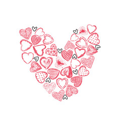 Valentines day hand drawn love sign vector