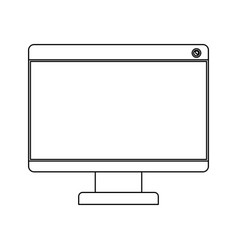 White background with monochrome silhouette of lcd vector