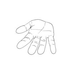 Bare hand vector