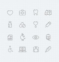 Healthy and medical thin line symbol icon vector