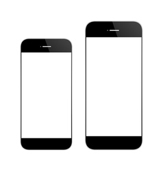 Black mobile phone similar iphone-6 vector