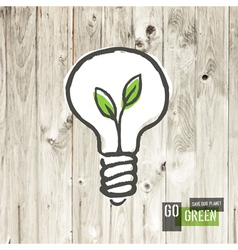Green eco energy concept lightbulb vector