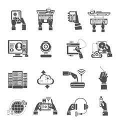 It devices icons black vector