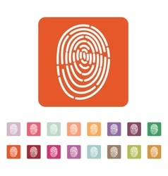 The fingerprint icon id symbol flat vector