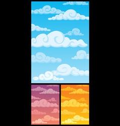 Cloudscape vector