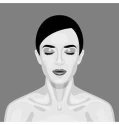 Black and white sleeping vampire woman vector